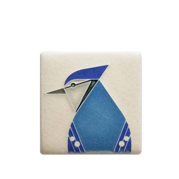 Blue Jay, Charley Harper Motawi Tile 3x3