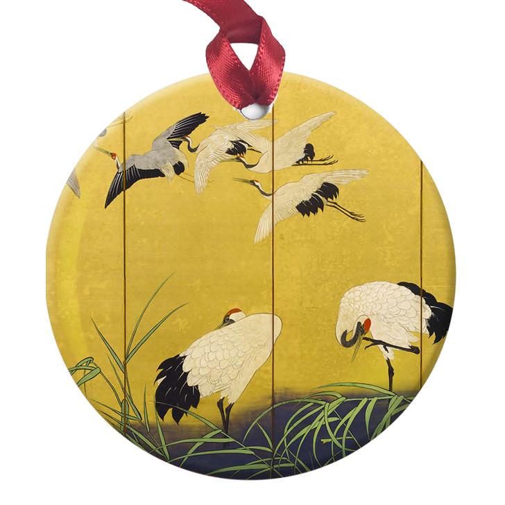 Reeds & Cranes, Kiitsu Ornament