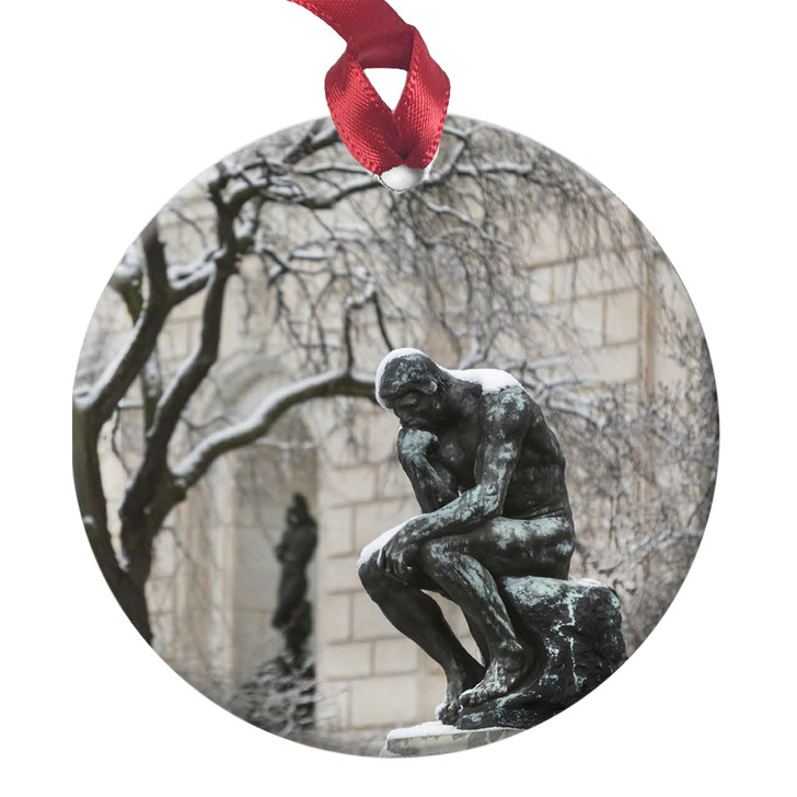 The Thinker in Snow, Rodin Ornament