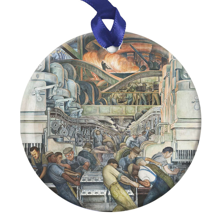 Detroit Industry Mural, North Wall Furnace Detail, Rivera Ornament