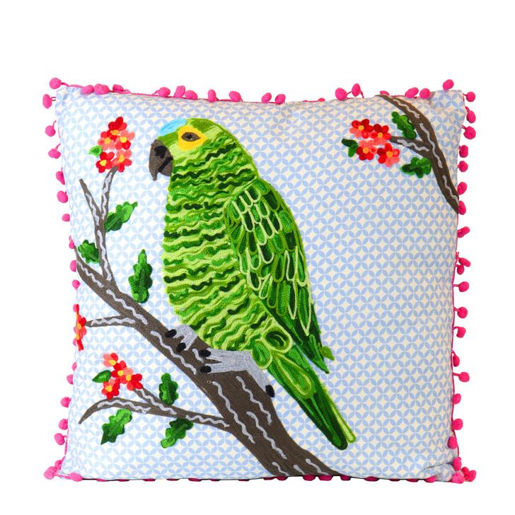 Green Parrot Pillow