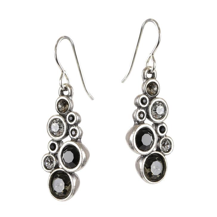 Patricia Locke Black & White Shimmer Wire Earrings