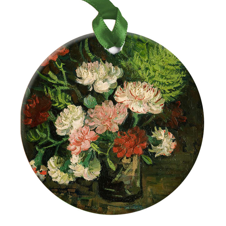 Still Life with Carnations, Van Gogh Ornament