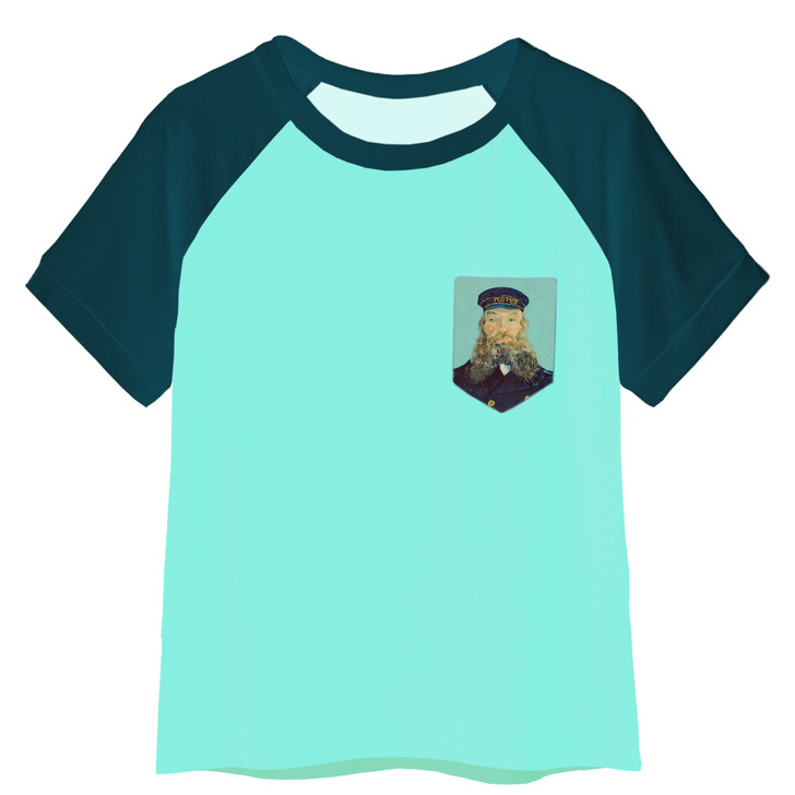 Portrait of Postman Roulin, Van Gogh Pocket T-Shirt