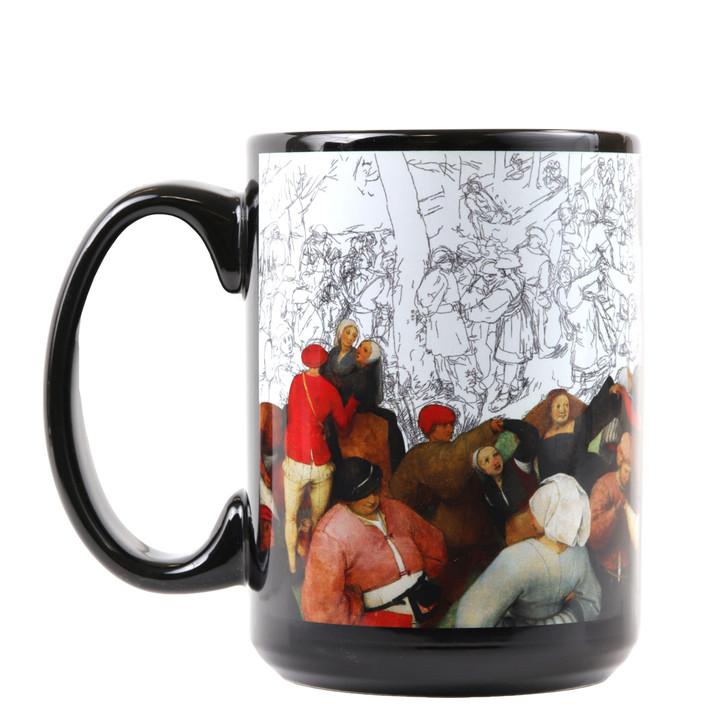 The Wedding Dance with Under Drawing, Bruegel Mug