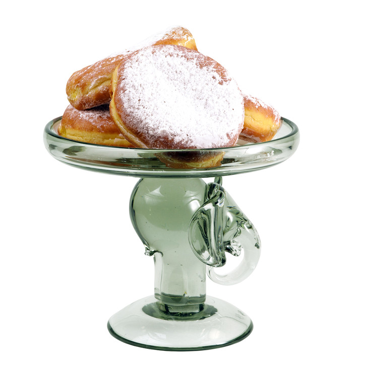Glass Elephant Cake Stand, Large