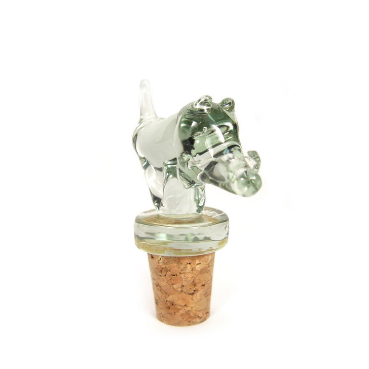 Recycled Glass Bottle Stopper, Warthog