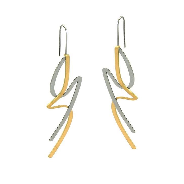 Raw/Gold Lithe Earrings