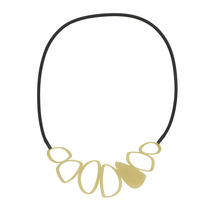 22ct Gold Plate Cobble Stainless Steel Necklace