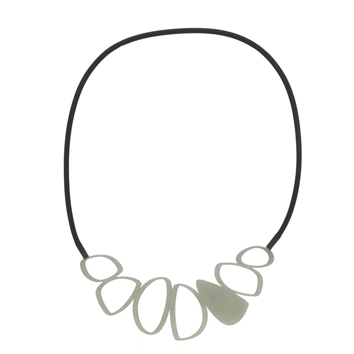 Raw Cobble Stainless Steel Necklace