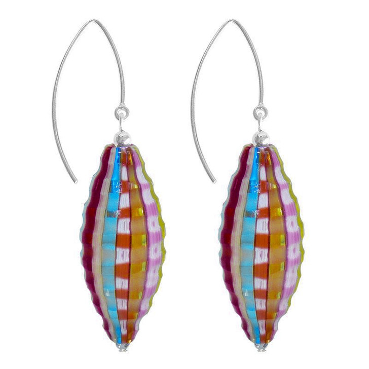 Rainbow Oval Glass Venezia Earrings