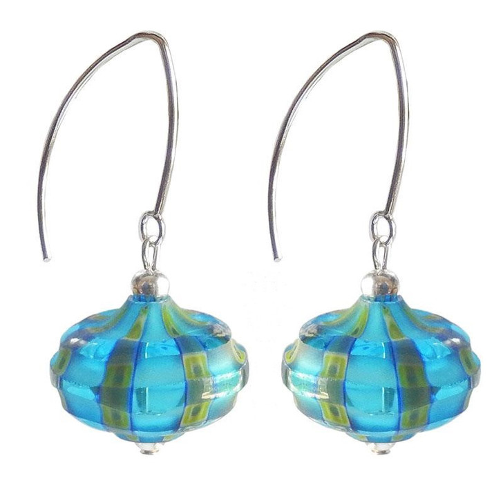 Aqua Onion Glass Venezia Earrings