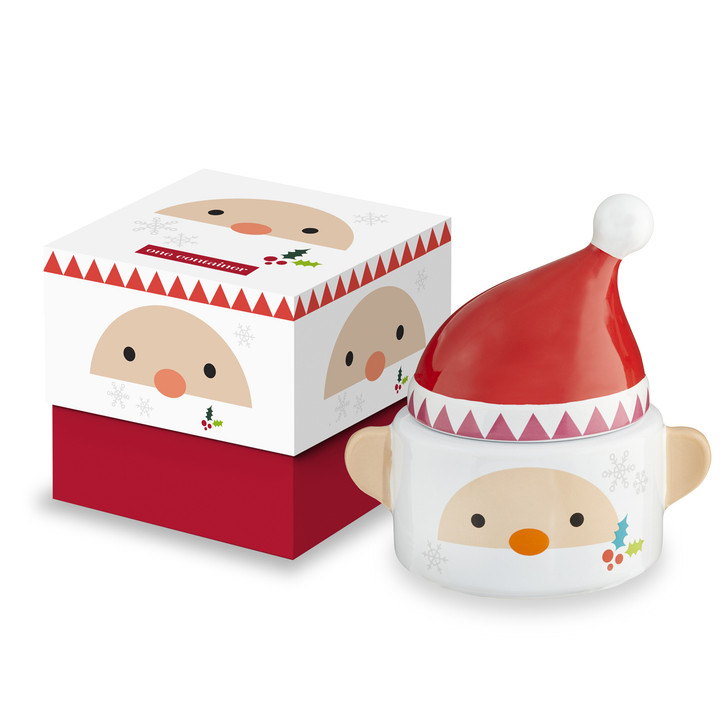 Lidded Santa Container