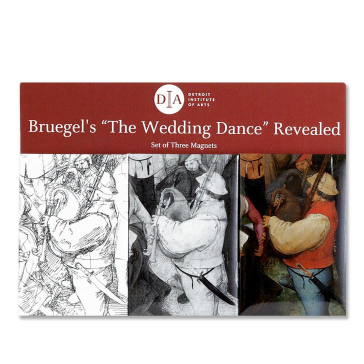 Bagpiper, Bruegel Detail 3-Piece Magnet Set