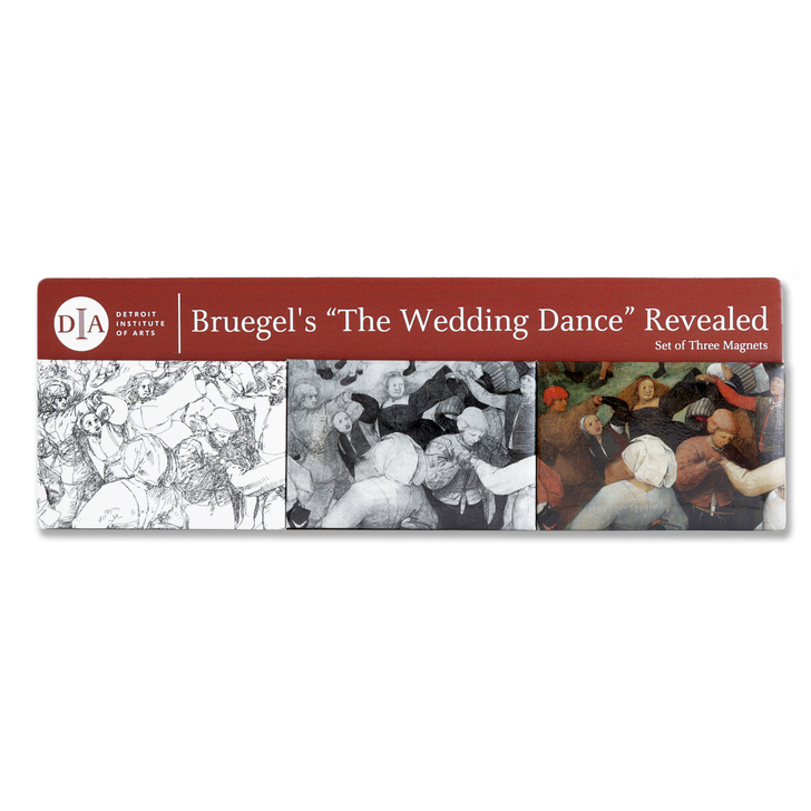 Bride, Bruegel Detail 3-Piece Magnet Set