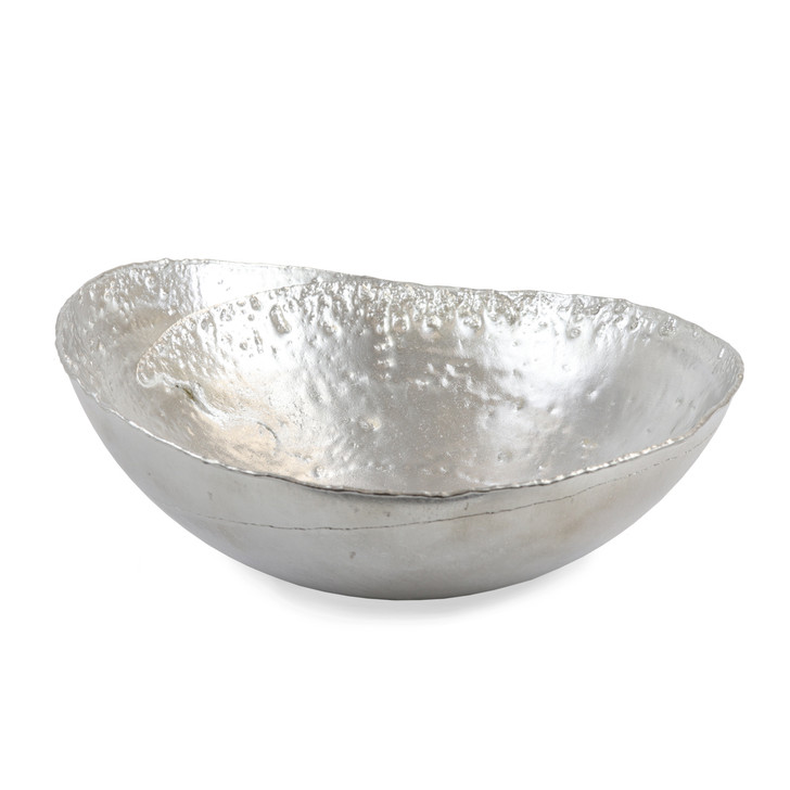 """Hand-Cast Pewter Bowl, 7"""""""