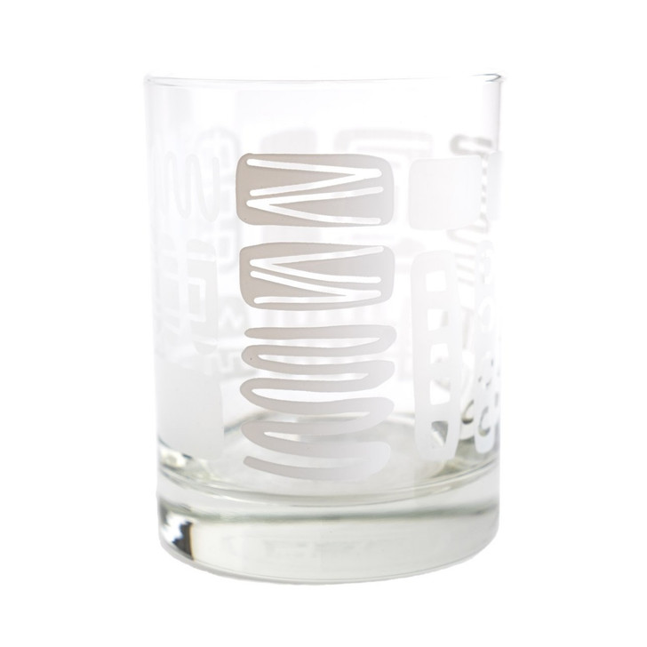 Mambo Old Fashioned, White/Etched