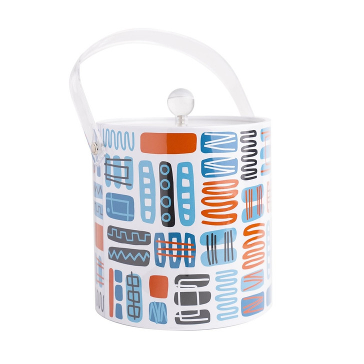 Mambo Ice Bucket, Blue/Orange