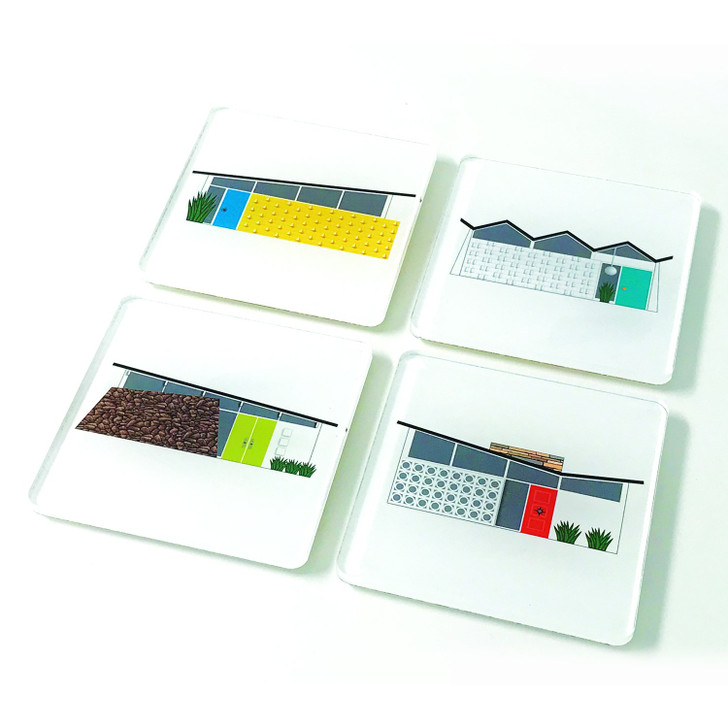 Midcentury House Acrylic Coasters Set