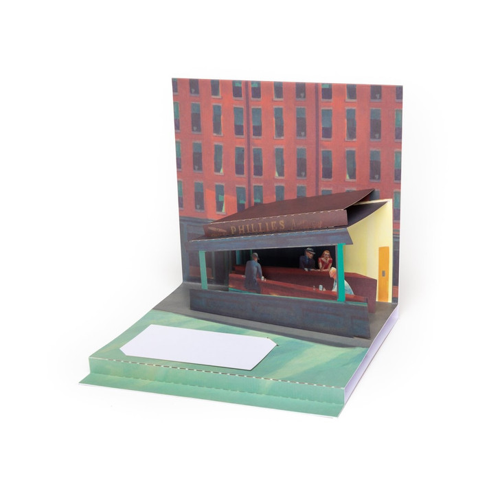 Nighthawks, Hopper Pop-Up Card