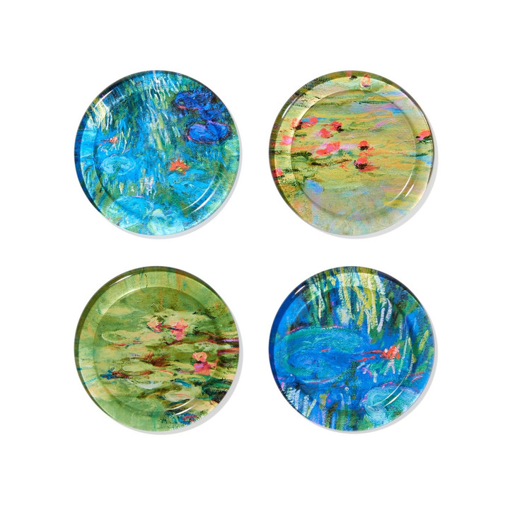 Monet Glass Coasters Set of 4