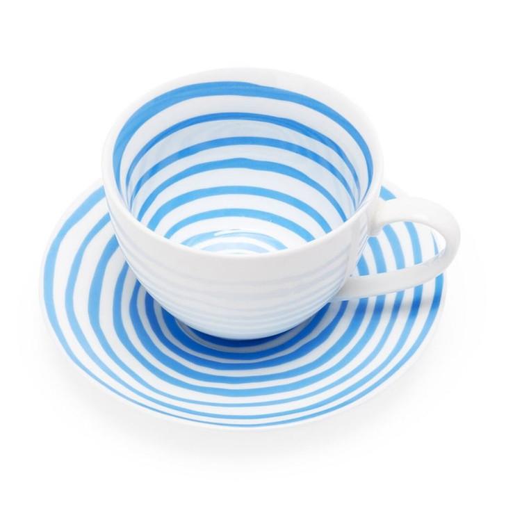 Blue Spirals, Bourgeois Cup & Saucer