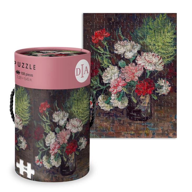Vase with Carnations, Van Gogh Wood Puzzle