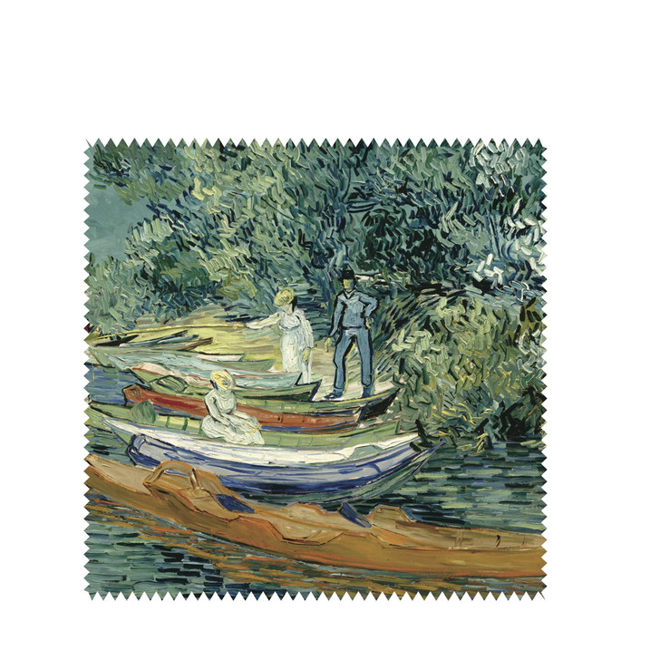 Bank of the Oise at Auvers, Van Gogh Square Lens Cloth