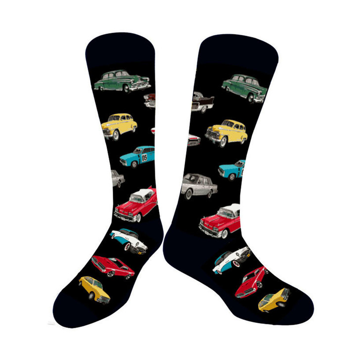 Vintage Cars Socks