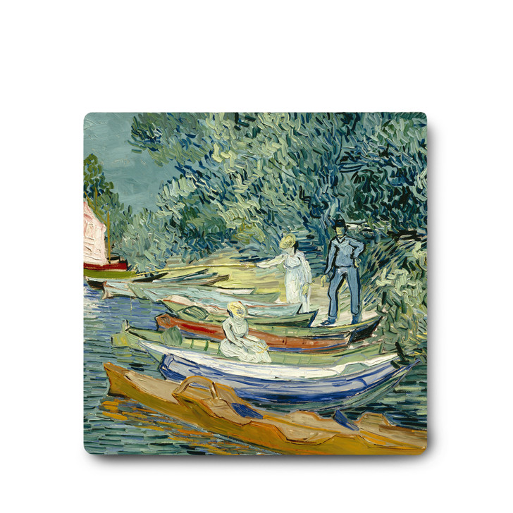 Bank of the Oise at Auvers, Van Gogh Ceramic Coaster