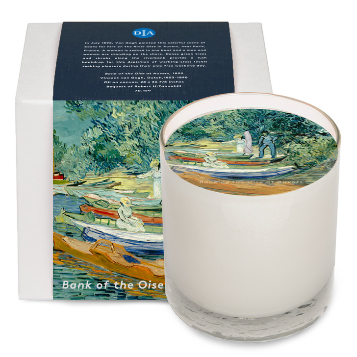 Bank of the Oise at Auvers, Van Gogh Soy Candle
