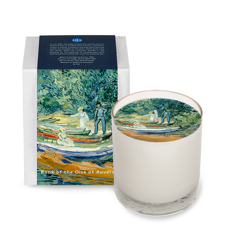 Bank of the Oise at Auvers, Van Gogh Votive Candle