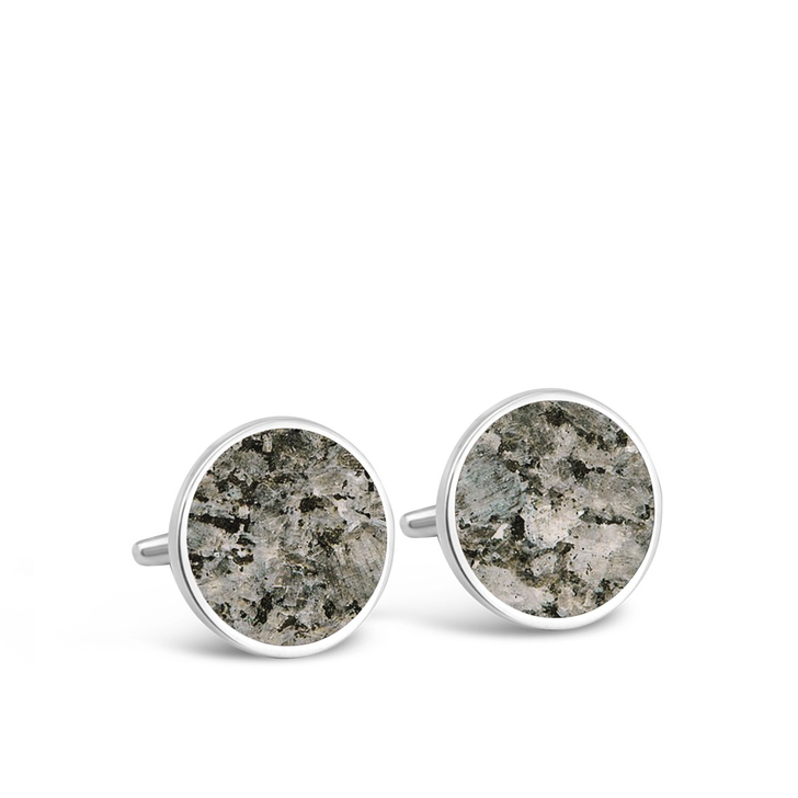DIA Granite Round Cufflinks