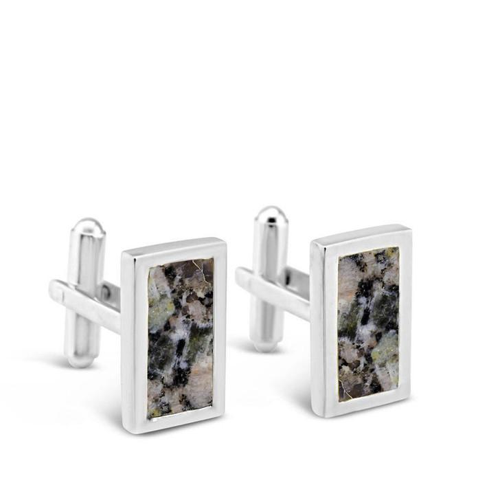 DIA Granite Rectangle Cufflinks