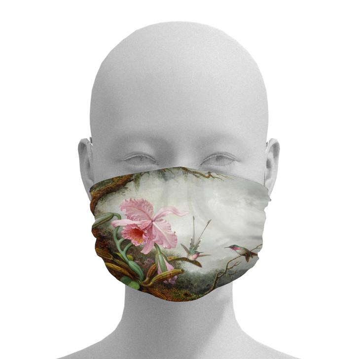 Hummingbirds & Orchids, Heade Face Mask