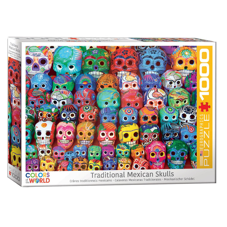 Traditional Mexican Skulls Puzzle