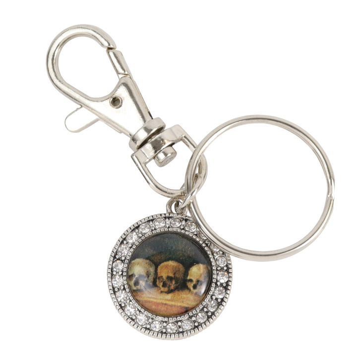The Three Skulls, Cezanne Crystal Keychain