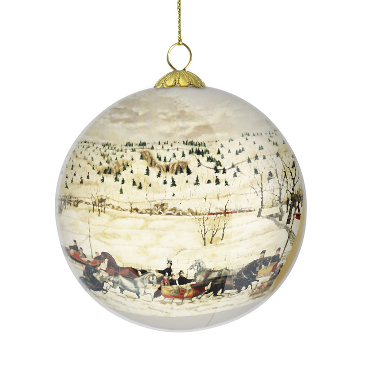 DIA Collectible Ornament 5th Annual Limited Edition, Sleighing Scene