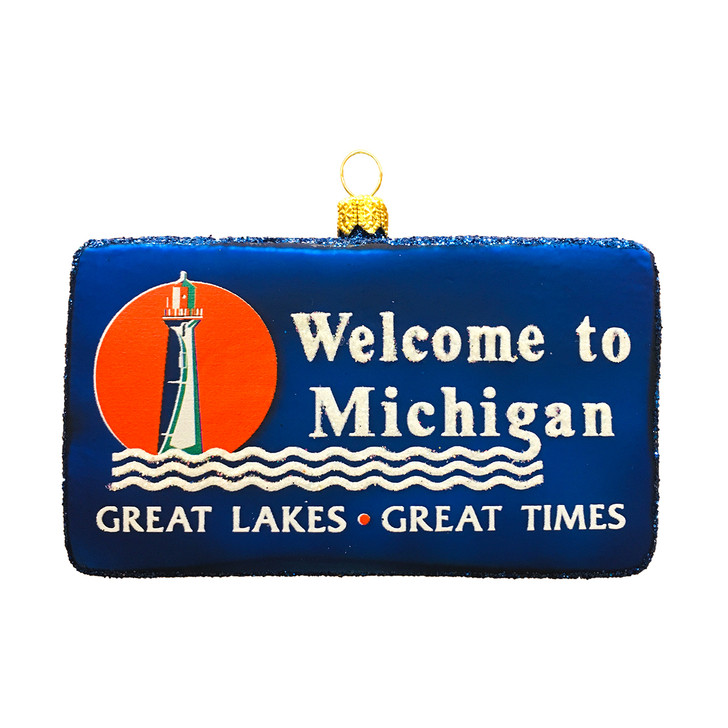 Michigan Welcome Sign Ornament