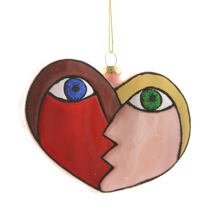 Kissing Heart Ornament