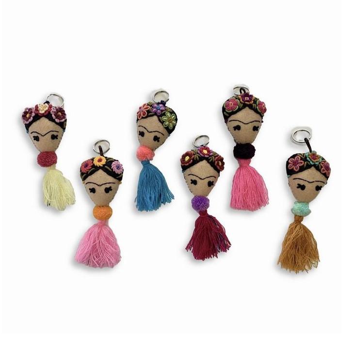 Frida Pom Pom Keychain, Assorted Styles