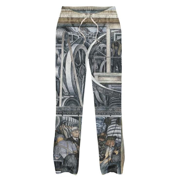 Detroit Industry South Wall, Rivera Pajama Pants