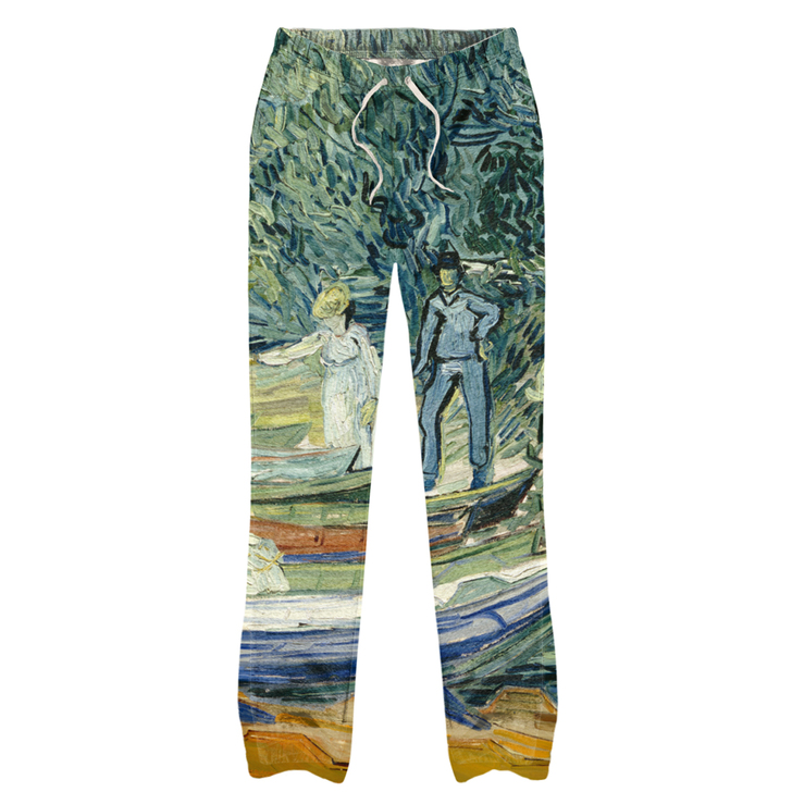 Bank of the Oise at Auvers, Van Gogh Pajama Pants
