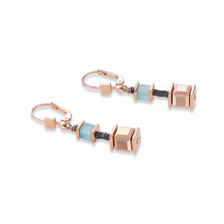 Polaris Swarovski Cube Earrings
