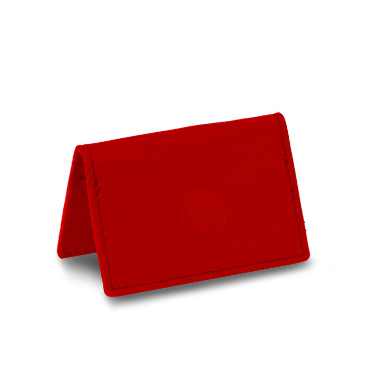 DIA X Pingree Leather Business Card Holder Red