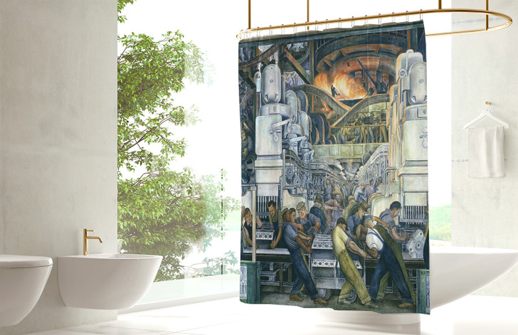 Detroit Industry, North Wall, Rivera Shower Curtain