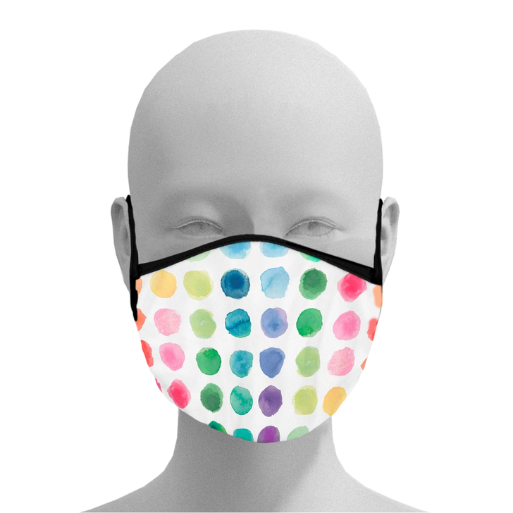 Watercolor Dots Face Mask