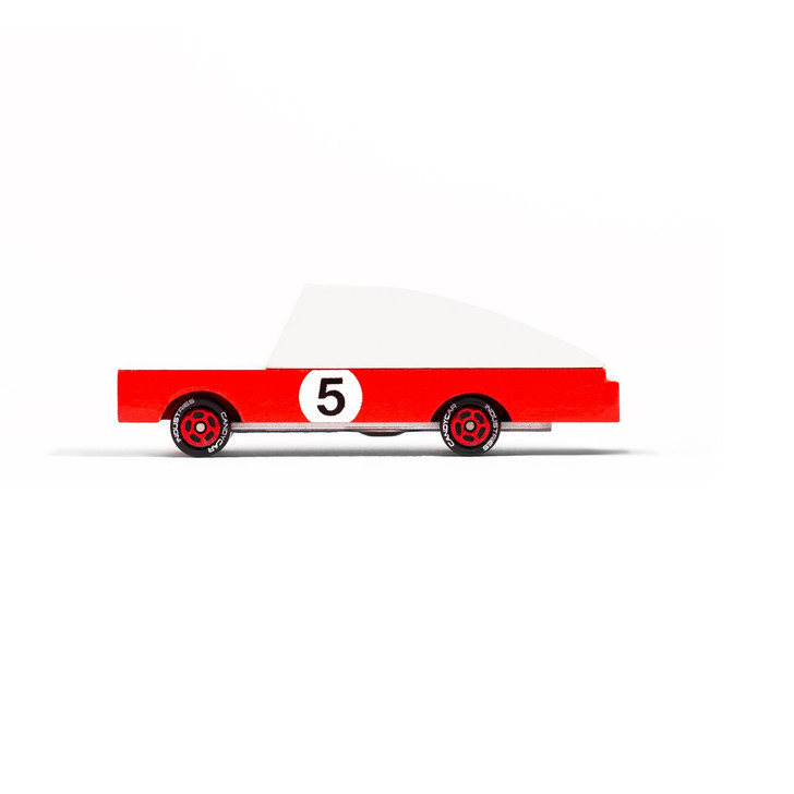 Wood Red Racer #5 Car