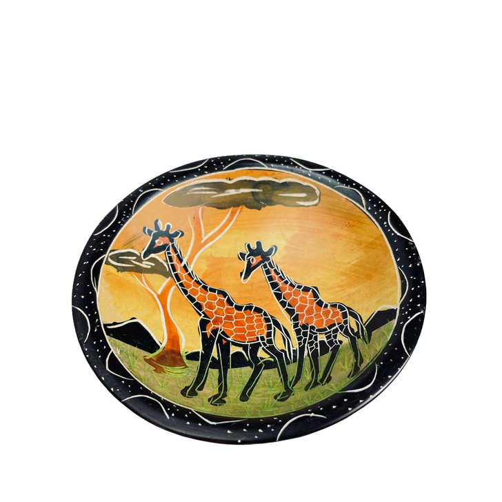 """Giraffes at Dusk"" Soapstone Bowl, Small"