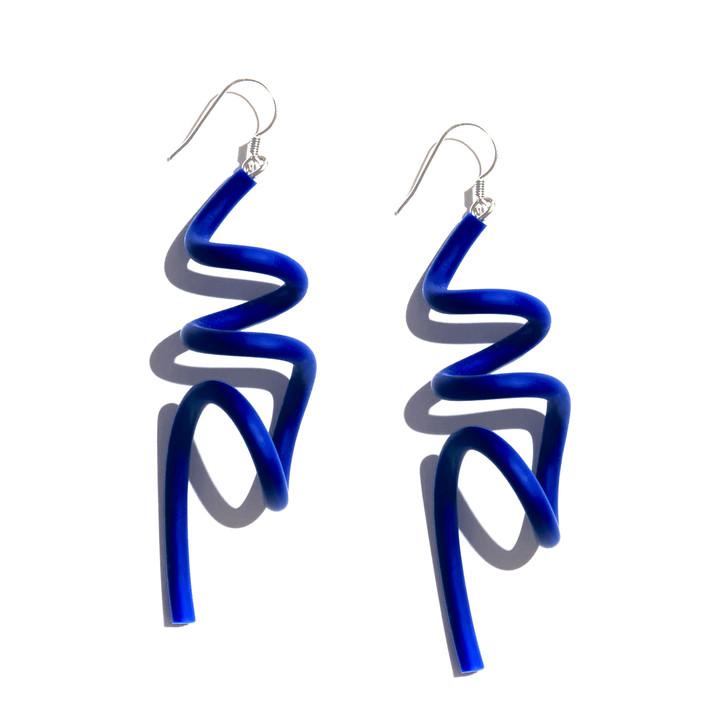 Cobalt Wave Earrings